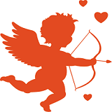 Cupid is Ready to Draw Back His Bow on Valentine's Day