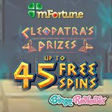 Will the Ancient Egyptian Goddess Grant You Great Fortunes? Try Cleopatra's Prizes with No Deposit at mFortune