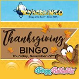 Cyber Bingo's Month of Thanksgiving Offers Begins!