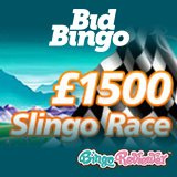 Get Ready For £1,500 Slingo Race at Bid Bingo