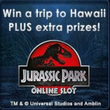 Win a Hawaiian Getaway in Kitty Bingo's Jurassic Park Slots Tourney