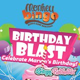 Monkey Bingo invites you to a birthday bash all November!