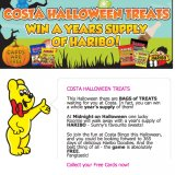 Win a Year's Supply of Haribo Sweets for Free at Costa Bingo